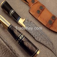 Hand Made Damascus Steel Hunting Knife / Bowie Knife / Skinner Knife
