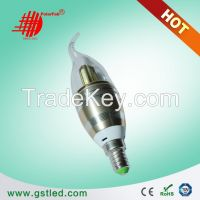 E14 E12 LED 3W 4w 5w led candle lamp With Golden/Silver color best for chandelier lamp
