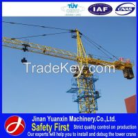 China good quality 4 tons YX50-5008A Single-gyration new tower crane