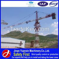 China manufacturer 5t YX60-5010 self erecting flat-top tower crane