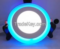 2015 NEW round ultra thin led panel light 2 colors 3 section switch 3 years warranty