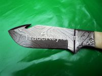 Hand Made Damascus Hunting Knife