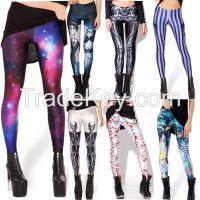 2014 trendy women Digital Print leggings galaxy leggings polyster leggings spandex leggings retail and wholesale
