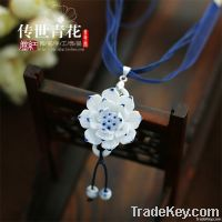 Wholesale From 100pcs---hot Handmade Ceramic Jewelry Blue And White Po