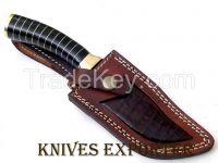 """""""KNIVES EXPORTER"""" CUSTOM HANDMADE DAMASCUS STEEL HUNTING KNIFE"""