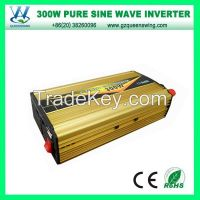 Mini 300W Inverter 600W Peak 12VDC to 220VAC Pure Sine Wave Power Inverter(QW-P300B)