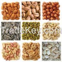 Organic Sunflower/pumkin Kernels,Pistachio nuts ,Pinenuts,Peacan,Melon Peanuts,Hazelnuts,Chestnuts,Cashew nuts,Betel Nuts and ALMONDS suppliers.