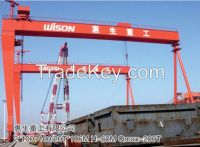 Double-trolley shipbuilding gantry crane