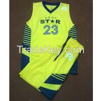 100% polyester dri fit fabric basketball uniform.