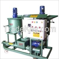 Electric cement grout pump system