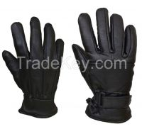 Motorcycle Motorbike Black Winter Leather Gloves LEATHER GLOVES THERMAL THINSULATE FLEECE LINED DRIVING SOFT WINTER WARM