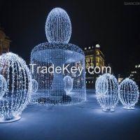 led christmas decorative lights snowman led motif light