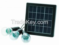 High Brightness 4W Solar Power Panel Supply System 3pcs F8 led bulbs outdoor Camping lamp Emergency light