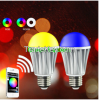 App based WiFi smart led bulb with Gateway 10w E26 with UL &RoHs certificates