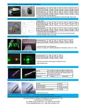 warning solid laser 532nm 2W 2000mW