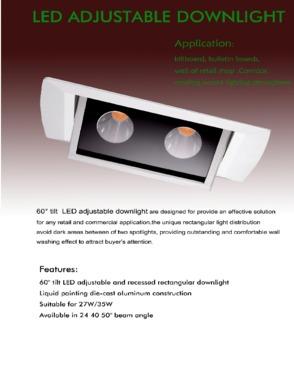 LED Rectangular ajustable downlight