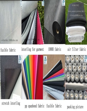 30 gsm 100% polyester nonwoven faric for garment  lining material