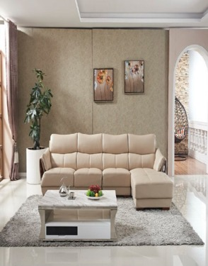 Living Room Furniture Modern Italian Leather Sofa