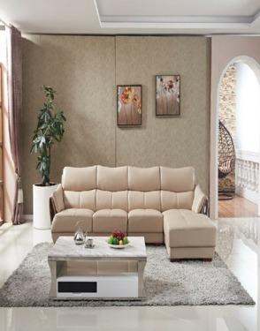 Living Room Furniture Modern Italian Leather Sofa