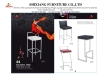 Brushed Stainless Steel Bar Stool bar table