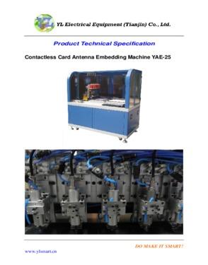 Contactelss Card Antenna Embedding Machine