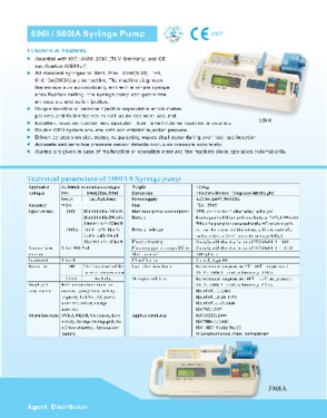 Micro infusion syringe pump(CE approved)