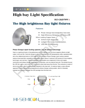 70W LED high bay lights / miner lamp for bathroom