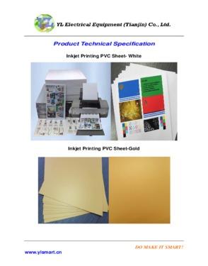 Non-lamination Plastic Card Material, Inkjet Printing PVC Sheet