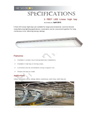 65W LED Linear Light