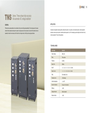 HONLE TNS Series Three Phase Servo Motor Type AC Automatic Voltage Stabilizer