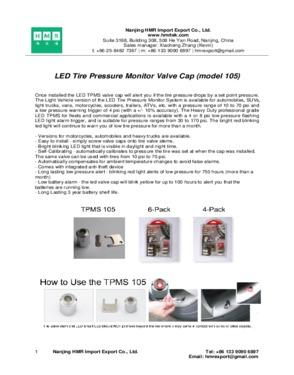 Tire Pressure Monitoring System RF Remote