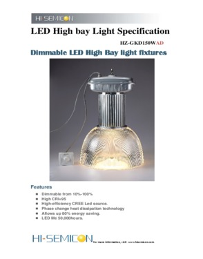 150W Dimmable LED Bay Lights