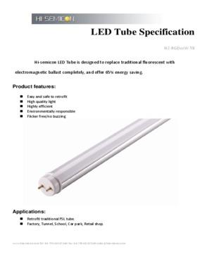 28W T8 LED tube light