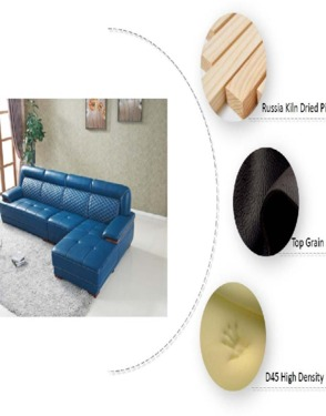 Stylish Home Furniture Modern Leather Corner Sofa