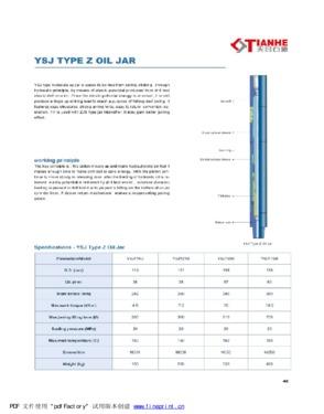 YSJ Type Z Oil Jar (Hydraulic up jar)
