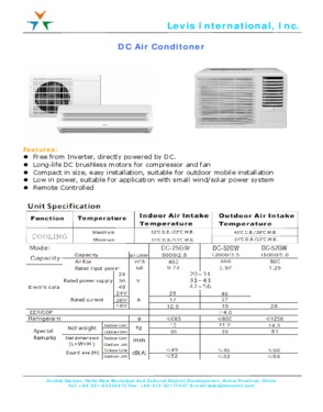 DC Power Air-Conditioners