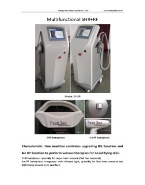 Super IPL+RF (SHR Hair removal)