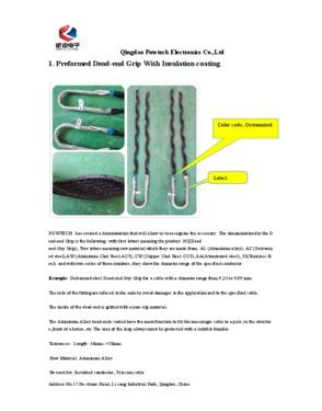 Insulator Preformed Top Tie