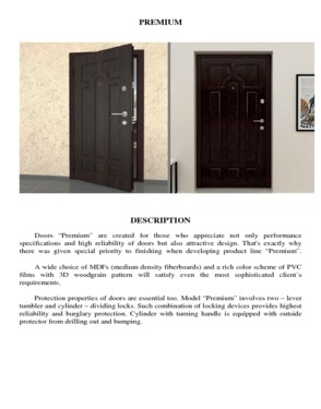 Doors Residential Fireproof Technical Safety and Security Reliable and Durable High quality