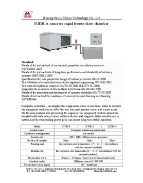 NJDR Concrete rapid freeze-thaw chamber
