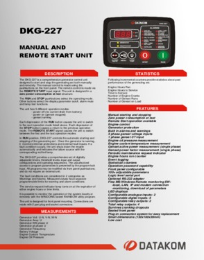 DKG 227 Manual and Remote Start Unit