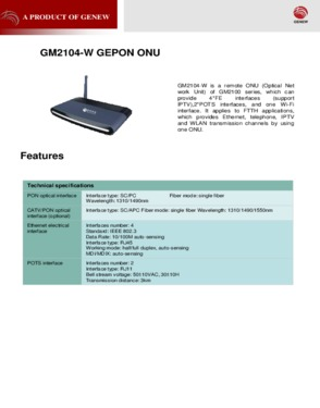 GM2104-wifi Gepon ONU