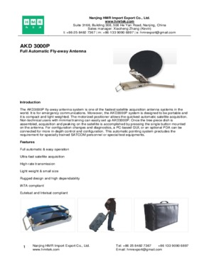 AKD 3000P Full Automatic Fly-away Antenna