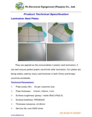 card lamination steel plate, Laminated steel plate