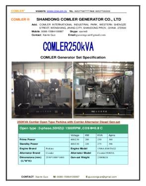Super Silent Diesel Generator Set Powered By Perkins Engine