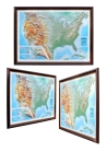 Decorative 3D map with panorama effect THE USA