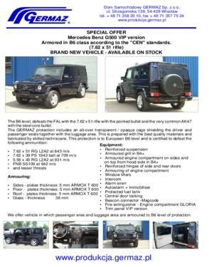 Merceds G 500 VIP version