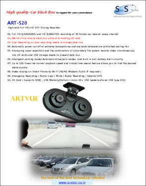 Car black box, DVR, video devices, dash camera(Pd No. : 3020768)