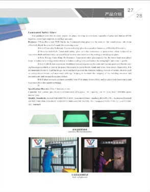 building Clear tempered SGP laminated glass