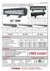 "30"" 90W SR Series LED Light Bar with 5W CREE LED"